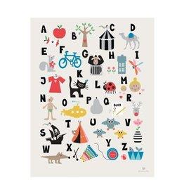 abodee ABC Poster - Nederlands - 30 x 40 cm