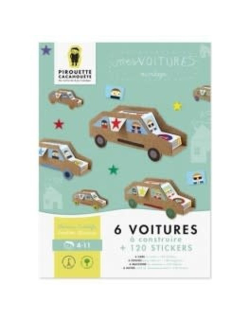 choubidous 'Mijn auto's' - set om auto's te knutselen met papier en karton