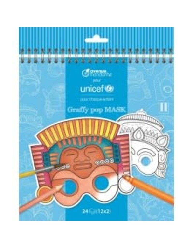 choubidous Set van 24 maskers - Unicef