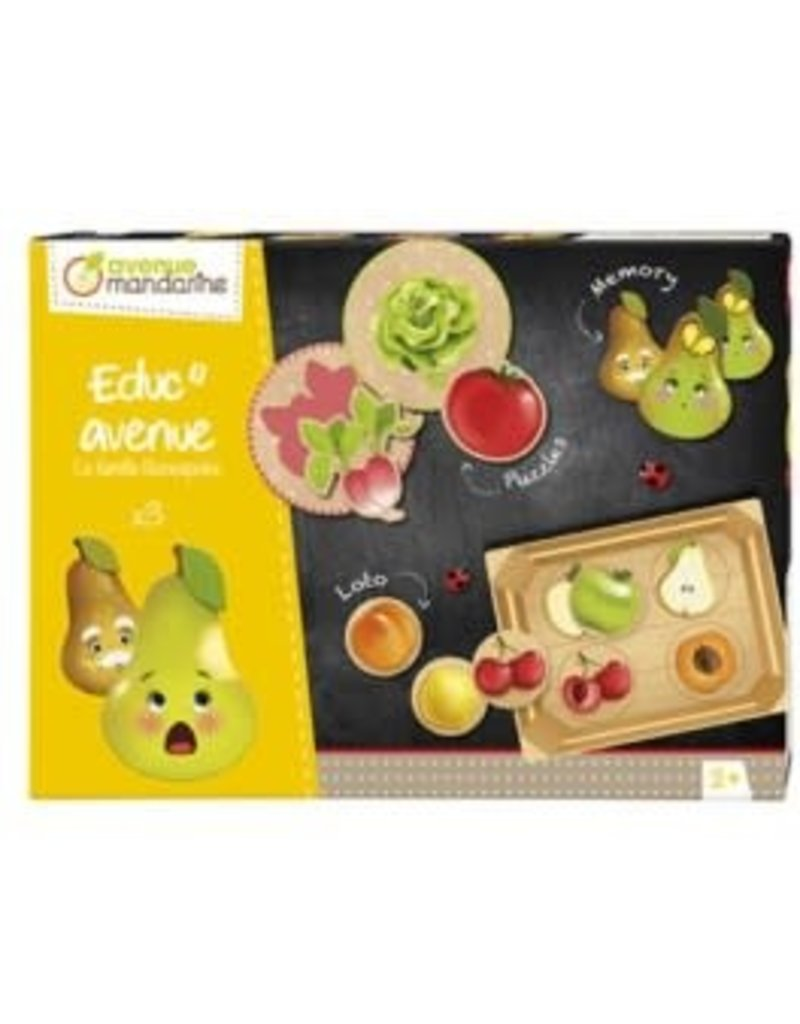choubidous 3 spellen thema 'groenten en fruit' - vanaf 2j