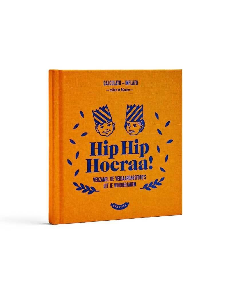 Stratier Boekje voor verjaardagsfoto's 'Hip hip hoera'
