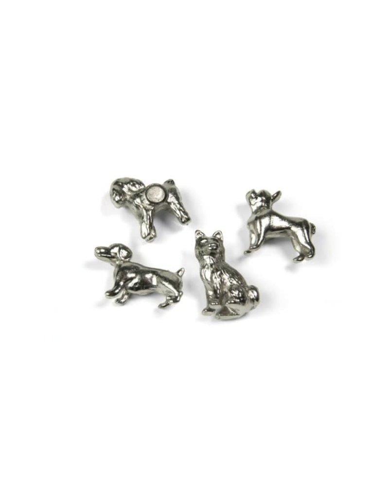 Trendform Magneten  - zilver hondjes (set van 4)