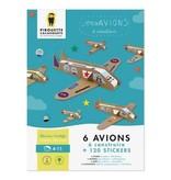 choubidous 'Mijn vliegtuigen' - set om te knutselen met papier en karton