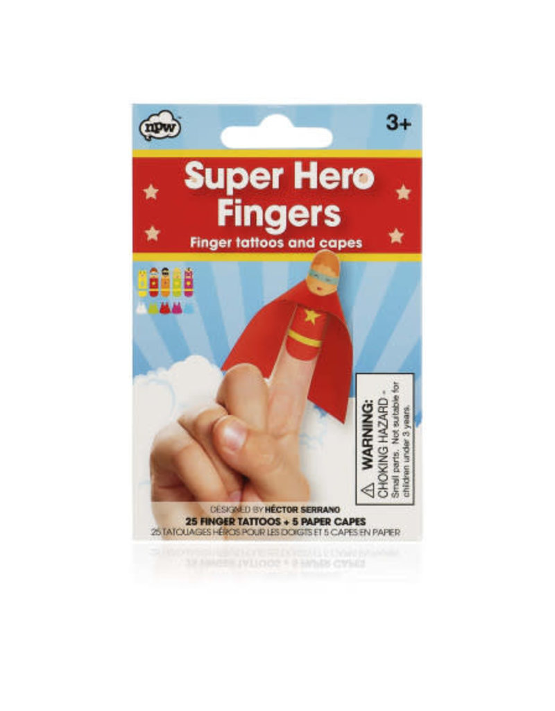 CORTINA Super hero finger tattoos