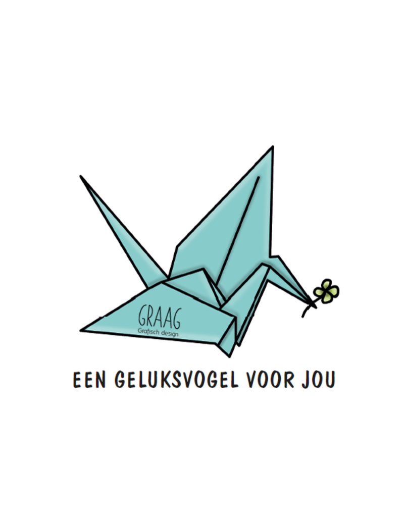 Graag Design Kaartje Graag-Design 'Geluksvogel'