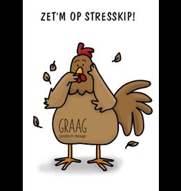 Graag Design Kaartje Graag-Design 'Stresskip'