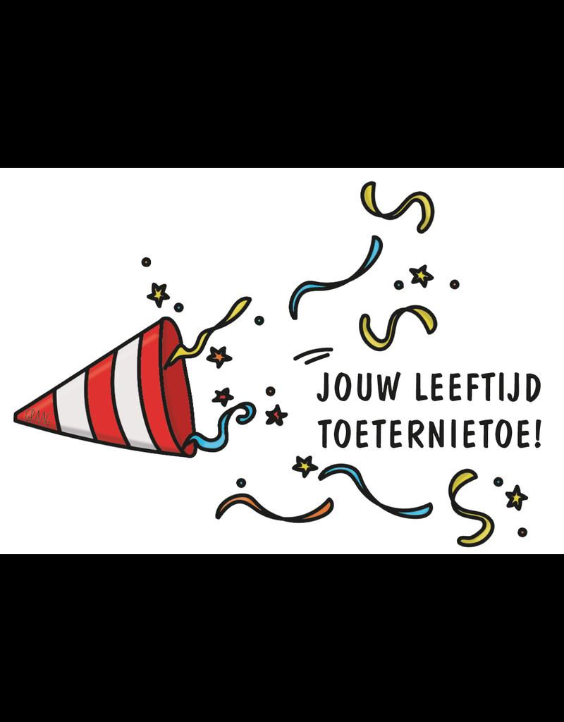 Graag Design Kaartje Graag-Design 'Toeternietoe'