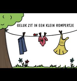Graag Design Kaartje Graag-Design 'Klein rompertje'