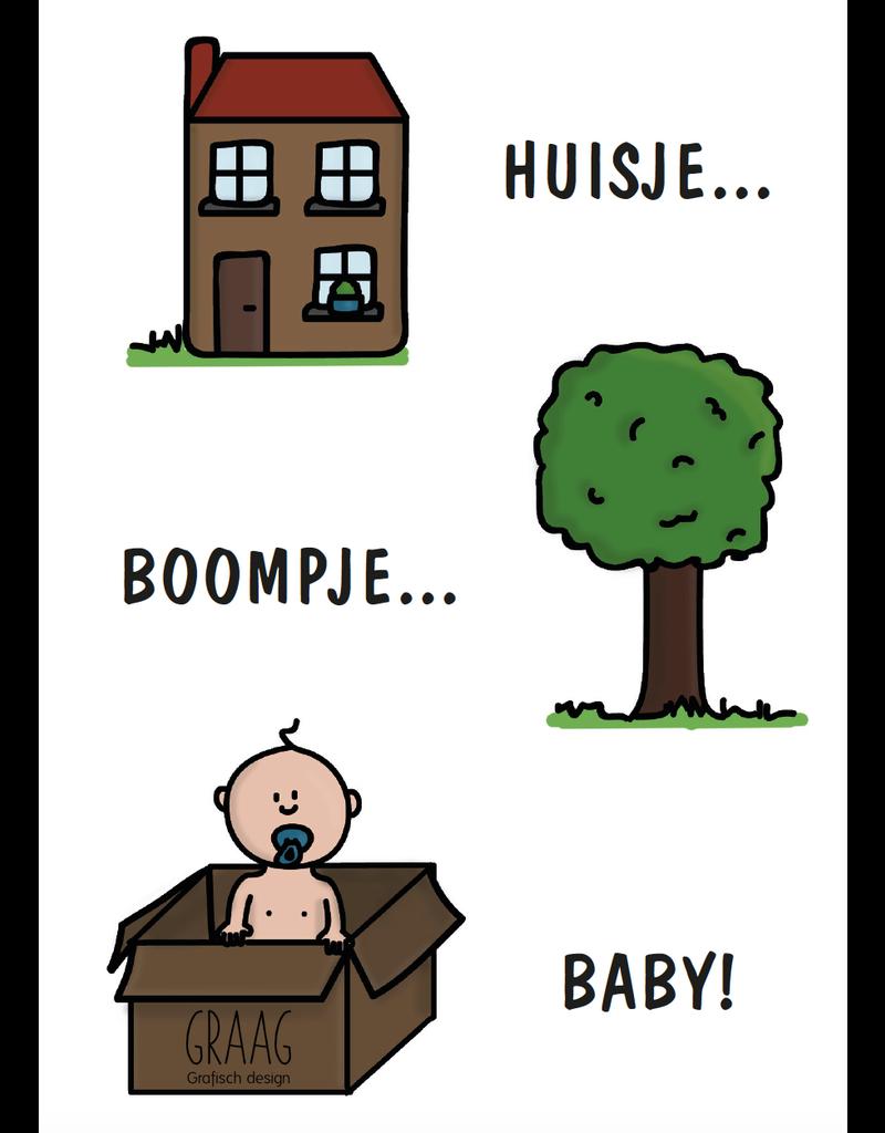 Graag Design Kaartje Graag-Design 'Huisje boompje baby'