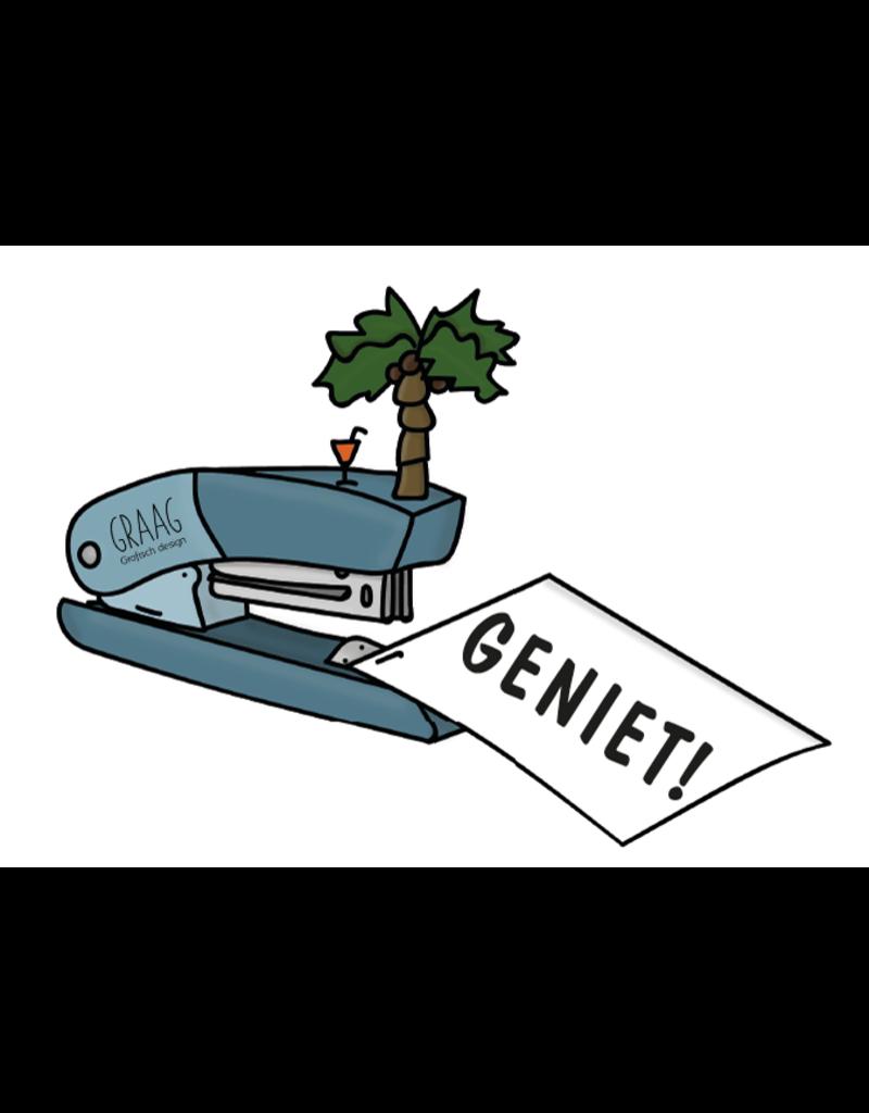 Graag Design Kaartje Graag-Design 'Geniet'