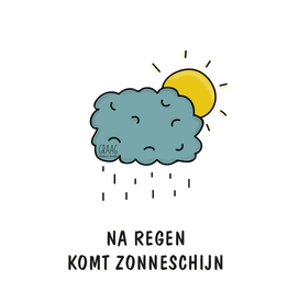 Graag Design Kaartje Graag-Design 'Na regen'