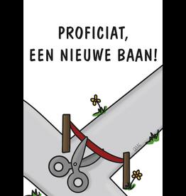 Graag Design Kaartje Graag-Design 'Nieuwe baan'