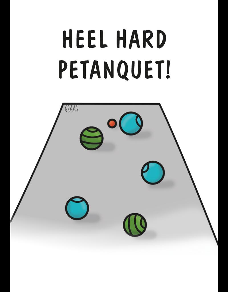 Graag Design Kaartje Graag-Design 'Petanquet'