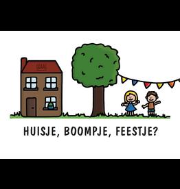 Graag Design Kaartje Graag-Design 'Huisje boompje feestje'