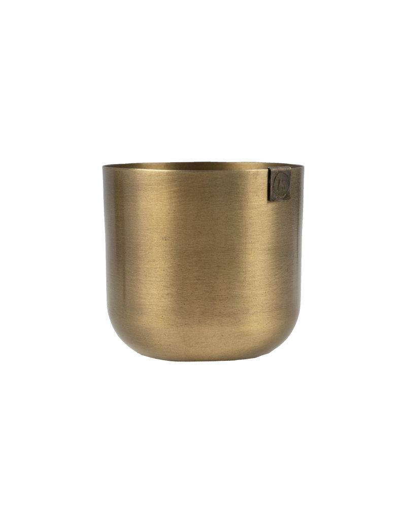 Zusss Potje metaal brons 13 cm