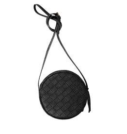 Zusss Kekke ronde tas zwart gevlochten