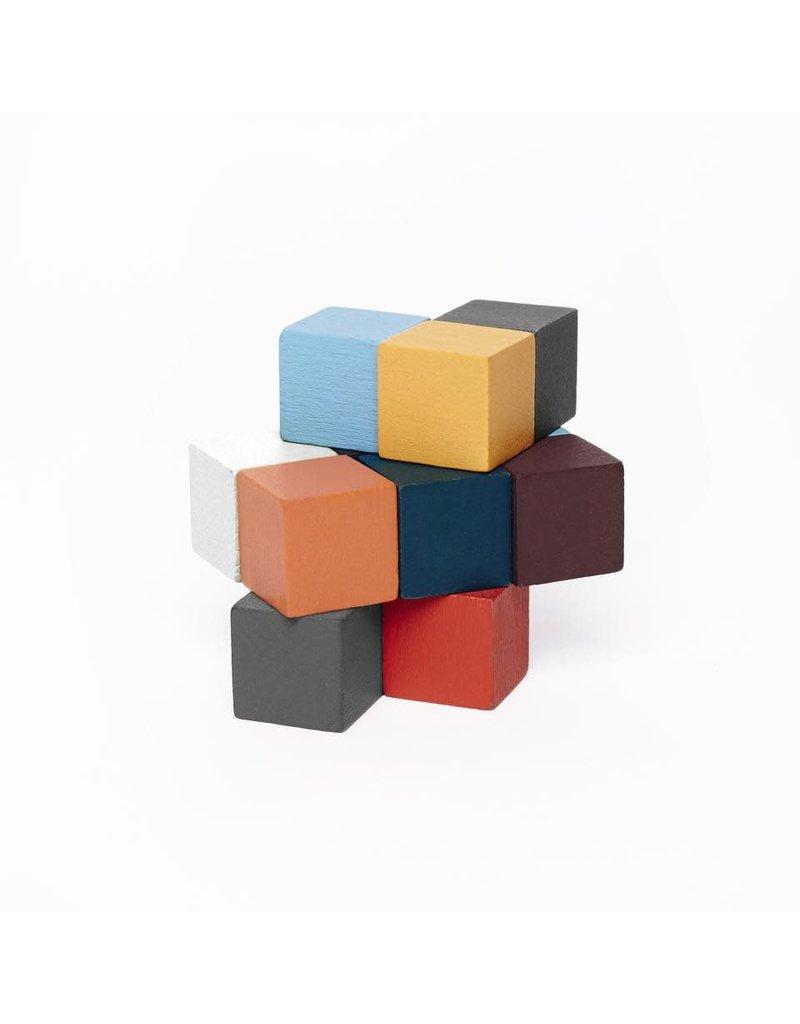 kikkerland 3D puzzel houten kubussen
