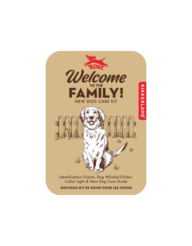 kikkerland Welcome to the family - dog kit
