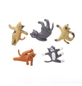 kikkerland Magneten 'cat yoga'