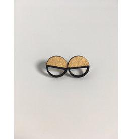 MonaLisa Juwelen Oorstekers 'Emptyfull' - klein - goud - 15mm