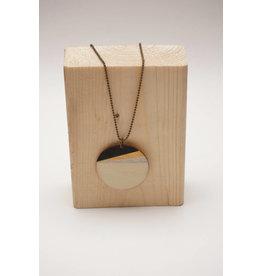 MonaLisa Juwelen Ketting 'lang rond' maxi - zwart-goud-zilver - 4cm