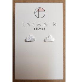 Katwalk Zilver Zilver oorstekers - wolkjes