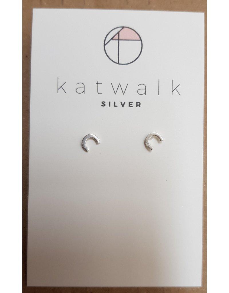 Katwalk Zilver Zilver oorstekers - 'C'