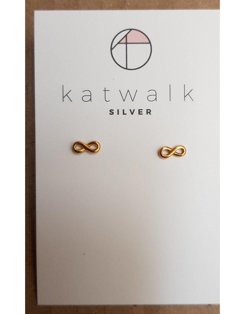 Katwalk Zilver Verguld zilver oorstekers - oneindig