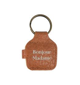 Zusss Sleutelhanger met muntje 'Bonjour Madame'