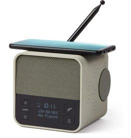 LEXON DAB/FM radio - BT-speaker - 'Oslo news - grijsgroen