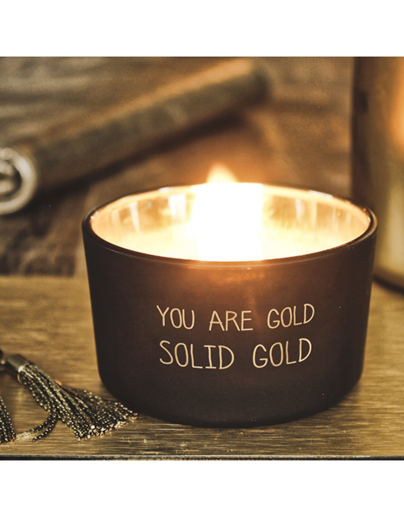 My Flame Lifestyle Geurkaars - 'You are gold'
