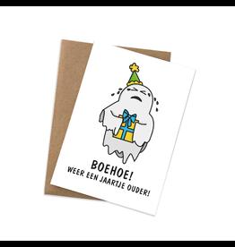 Graag Design Kaartje Graag-Design 'Boehoe - jaartje ouder!'