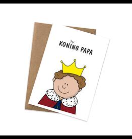 Graag Design Kaartje Graag-Design 'Koning Papa'