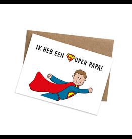 Graag Design Kaartje Graag-Design 'Superpapa'