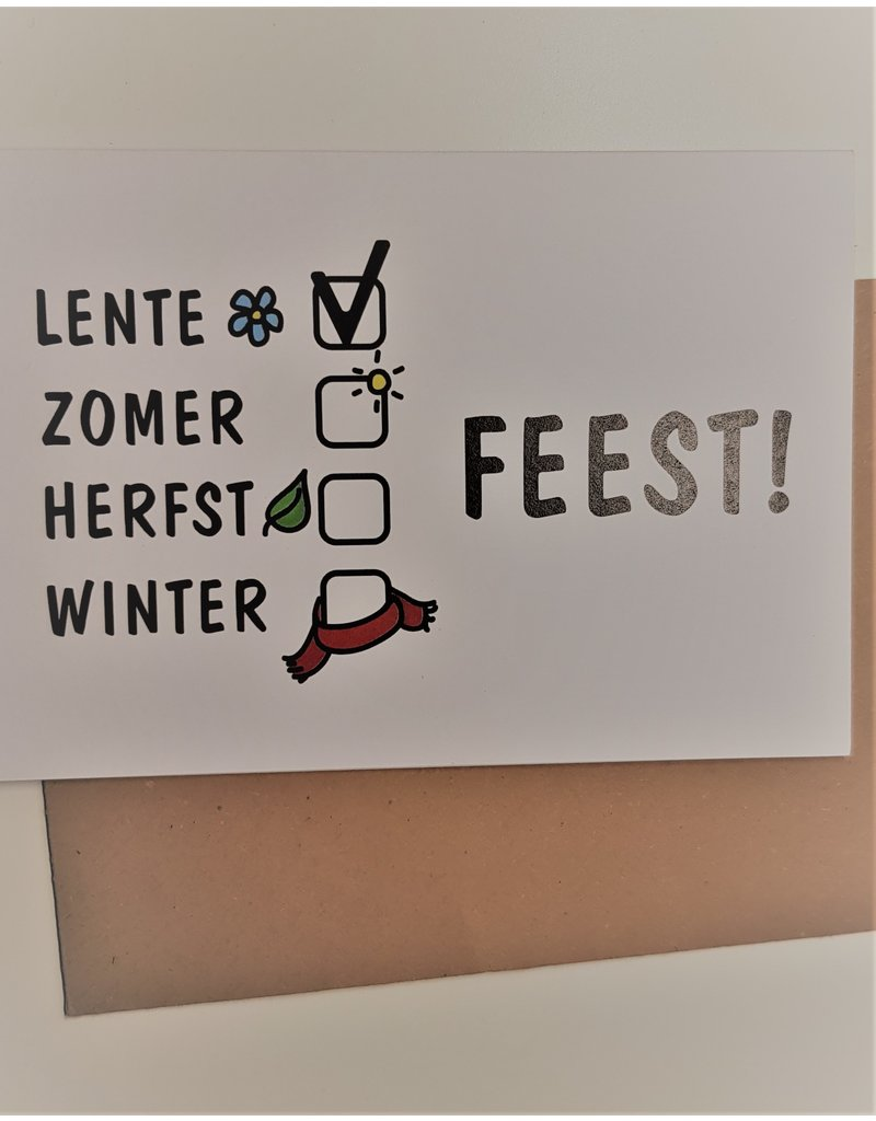 Graag Design Kaartje Graag-Design 'Lente-feest'
