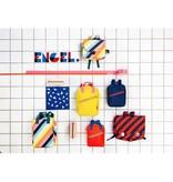 Engel. Schooltas large 'Stripe Navy'