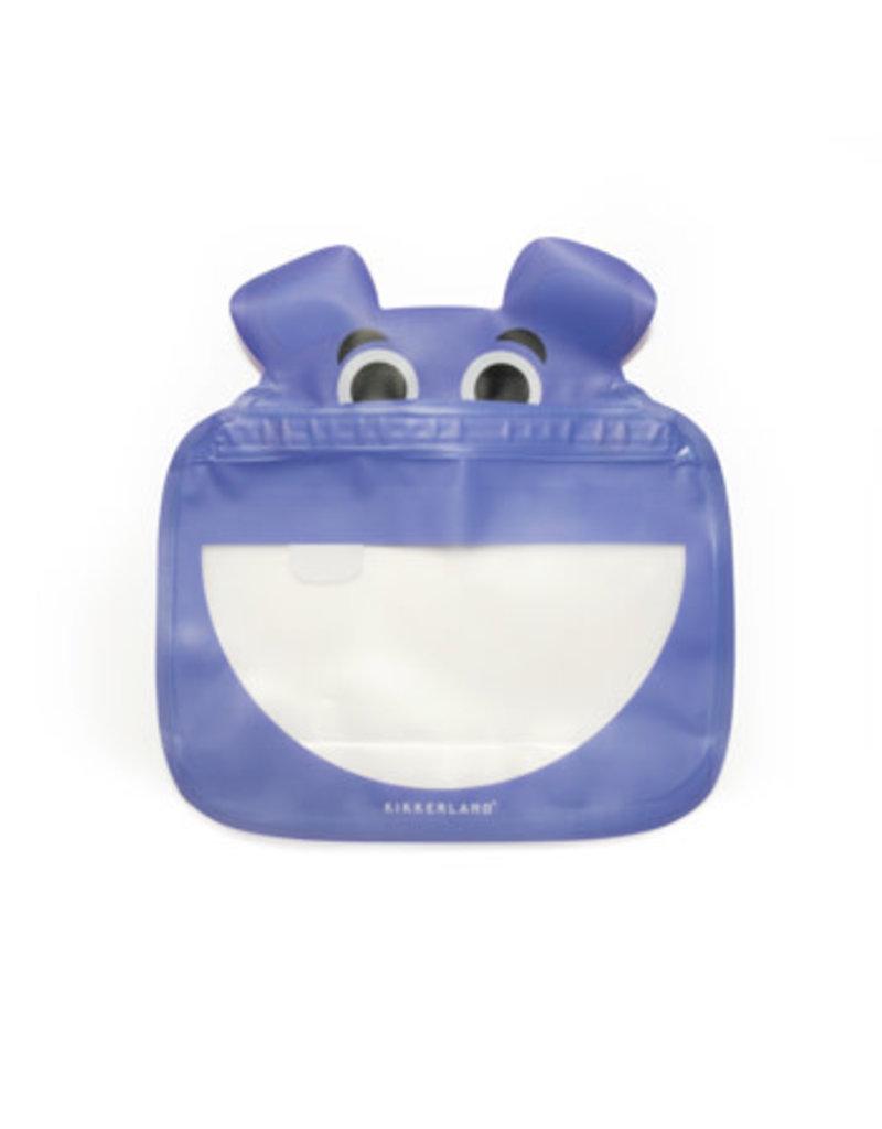 kikkerland Hippo zipper bag (3 stuks)