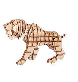 kikkerland Tijger 3D houten puzzel