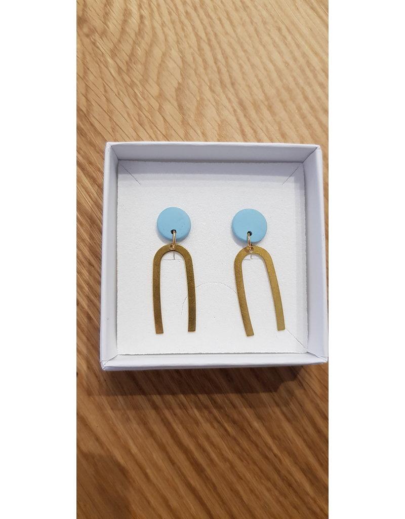 MonaLisa Juwelen Oorsteker klei 'Betty' blue