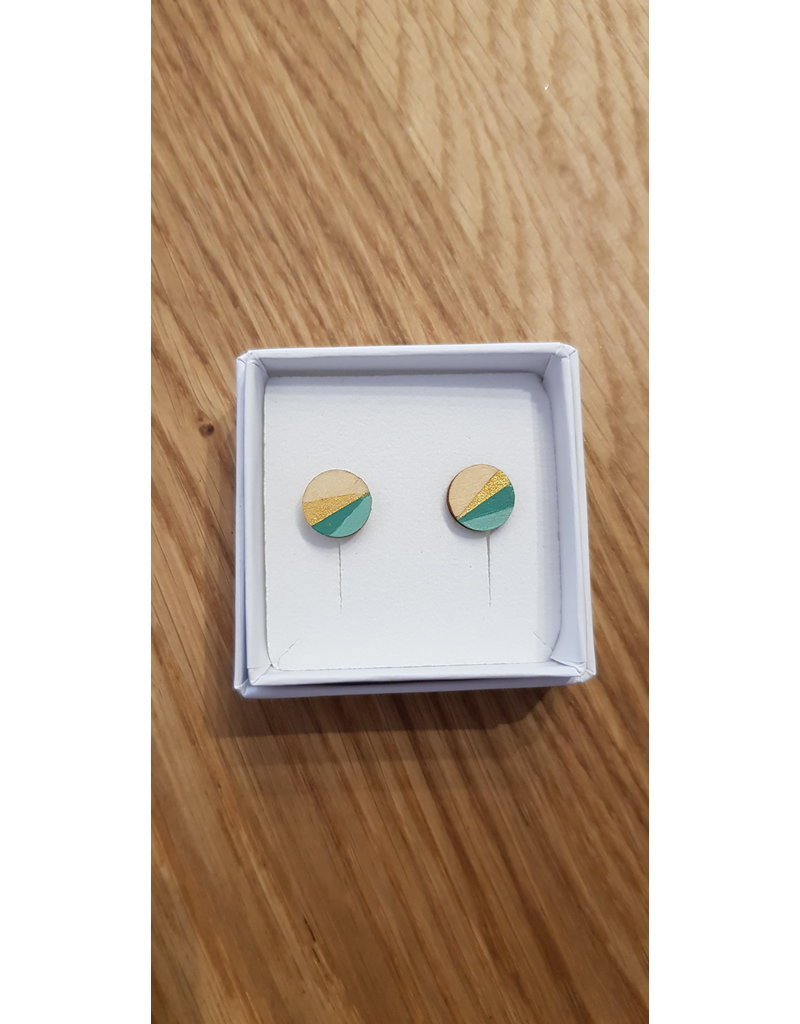 MonaLisa Juwelen Oorstekers 'Mini rond' - shade of mint - 10mm