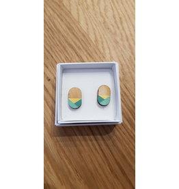 MonaLisa Juwelen Oorstekers 'Oval' - mint
