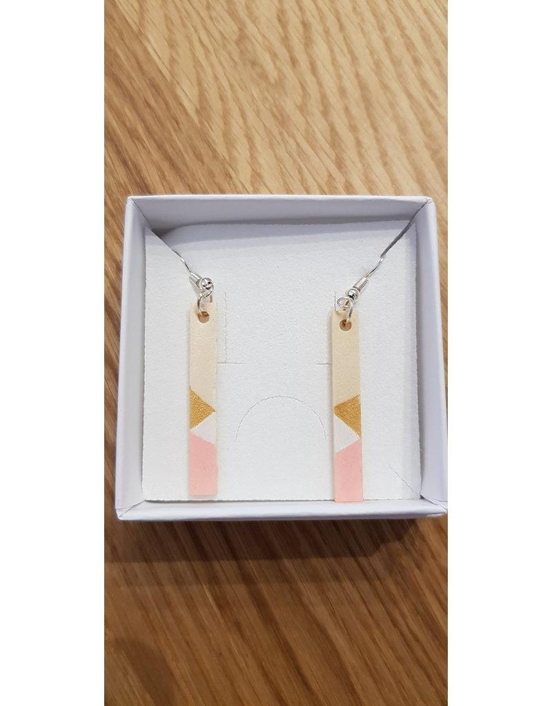 MonaLisa Juwelen Oorhangers roze - 4 cm