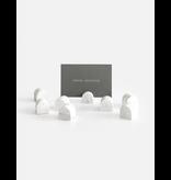 HOUSE RACCOON Bobby Card Holders (8x) - White Marble