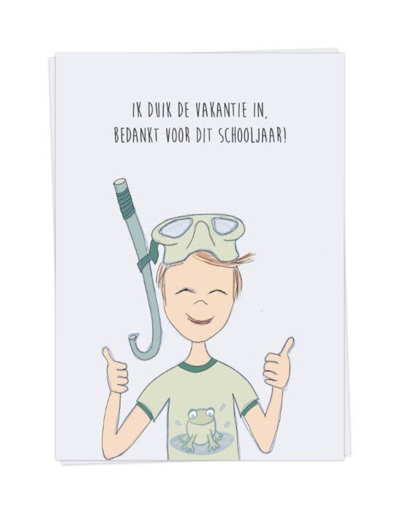 KaartBlanche Kaartje – duik de vakantie in - jongen