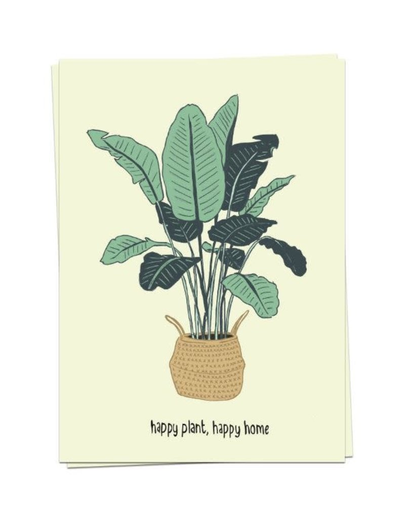 KaartBlanche Kaartje – Happy plant, happy home
