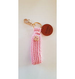 La Petite Rooze Sleutelhanger haakwerk - roze - Dank