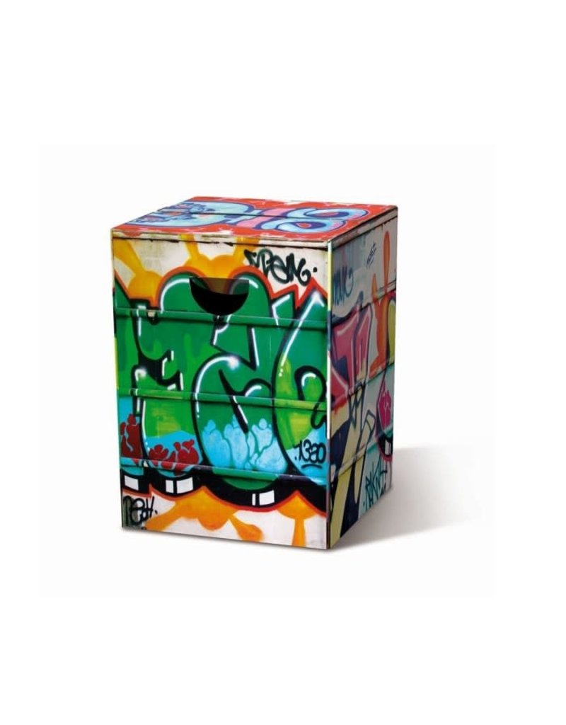 Remember Stool cardboard - Graffiti