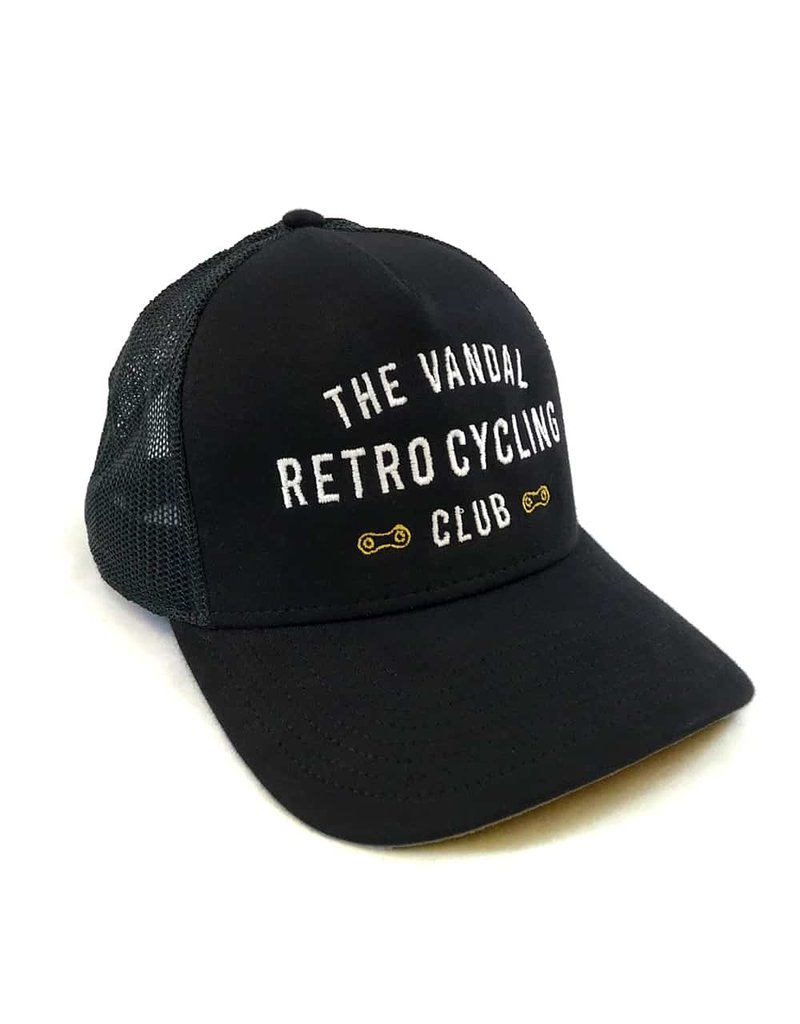 THE VANDAL Trucker Cap Retro Cycling Club - Zwart