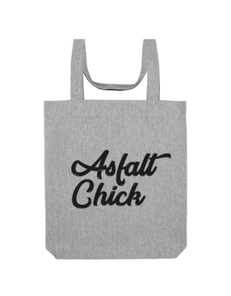 THE VANDAL Tote-bag 'Asfalt Chick' - grijs