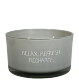 My Flame Lifestyle Geurkaars - 'Relax Refresh Recharge'